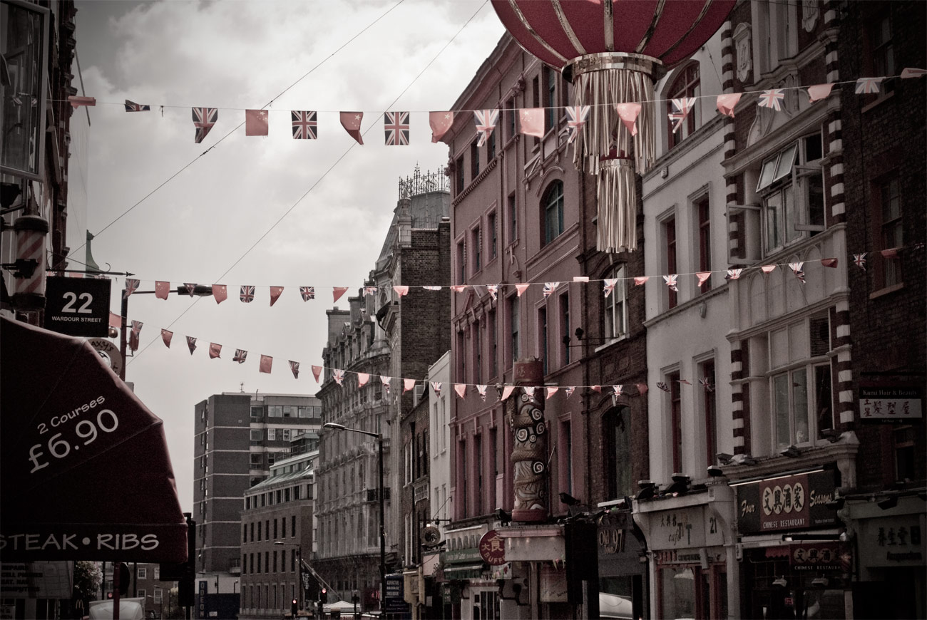ICMSTUDIOS - A photo of part of China Town in London.