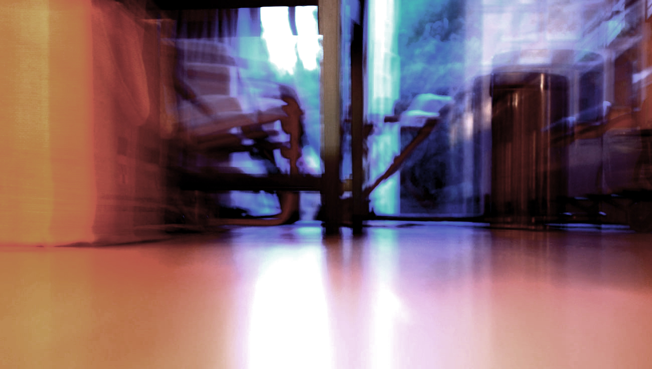 ICMSTUDIOS - This is a photo with a long exposure whilst pulling focus. The photo is of a kitchen, the camera was positioned on the floor. Slight colour correcting done in Photoshop and a little bit of tweaking.