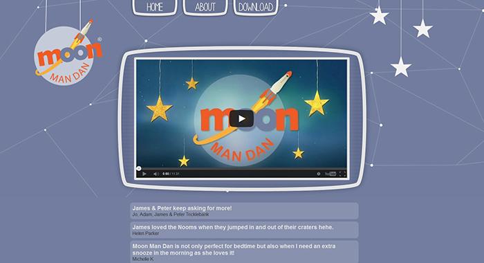 Moon Man Dan Childrens Animation website